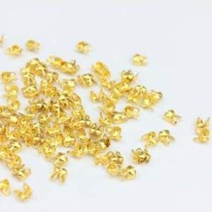 Shop Bead Tips & Knot Covers! 100 x Tiny Bead Tip Knot Covers, 100 x Gold Plated Copper Pieces, by Jewellery Making Supplies London ( JMSLondonCo ) | Shop jewelry making and beading supplies, tools & findings for DIY jewelry making and crafts. #jewelrymaking #diyjewelry #jewelrycrafts #jewelrysupplies #beading #affiliate #ad