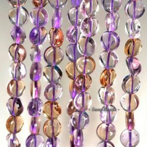 Shop Ametrine Bead Shapes! 10mm Ametrine Gemstone Grade Aa Flat Round Cirlce Loose Beads 15.5 Inch Full Strand (90146986-291)   Natural genuine other-shape Ametrine beads for beading and jewelry making.  #jewelry #beads #beadedjewelry #diyjewelry #jewelrymaking #beadstore #beading #affiliate #ad