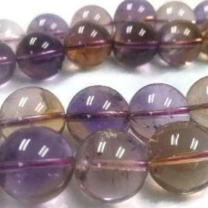Shop Ametrine Round Beads! 12MM HALF Strand Super Fine Quality , Ametrine Round Beads, 7.5 Inch Inch Strand,AAAA QUALITY | Natural genuine round Ametrine beads for beading and jewelry making.  #jewelry #beads #beadedjewelry #diyjewelry #jewelrymaking #beadstore #beading #affiliate #ad