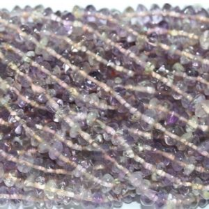 """Shop Ametrine Rondelle Beads! 14"""" St Ametrine Smooth Rondelle 5x3mm.-Strand 37cm 