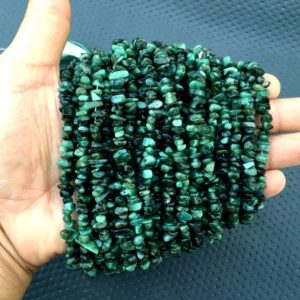 Shop Emerald Chip & Nugget Beads! 16 Inch Long Strand Natural Green Emerald Uncut Chips,Size 6-8 MM Gemstone Smooth Emerald Chips,Brilliant Quality Emerald,May Birthstone | Natural genuine chip Emerald beads for beading and jewelry making.  #jewelry #beads #beadedjewelry #diyjewelry #jewelrymaking #beadstore #beading #affiliate #ad