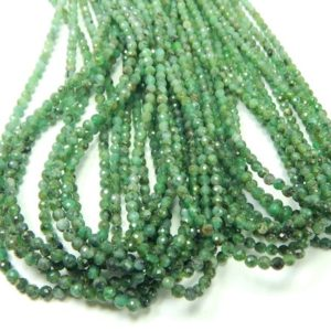 Shop Emerald Round Beads! 16 Inches Emerald Faceted Round Beads, Natural Emerald Gemstone Beads Size 3X4 mm Top Quality | Natural genuine round Emerald beads for beading and jewelry making.  #jewelry #beads #beadedjewelry #diyjewelry #jewelrymaking #beadstore #beading #affiliate #ad