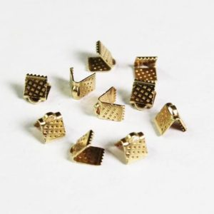 Shop Cord Tips! 50 Pcs 7x6mm Raw Brass  Cord tip End, Crimp , Cord End Cap tip Bead tip Crimp Clasps | Shop jewelry making and beading supplies, tools & findings for DIY jewelry making and crafts. #jewelrymaking #diyjewelry #jewelrycrafts #jewelrysupplies #beading #affiliate #ad
