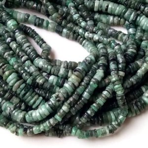 Shop Emerald Round Beads! 6-7mm Emerald Plain Tyre Beads, Emerald Plain Wheel Beads, Natural Emerald Spacer Beads, 13 Inch Emerald For Necklace (1st To 5st Options) | Natural genuine round Emerald beads for beading and jewelry making.  #jewelry #beads #beadedjewelry #diyjewelry #jewelrymaking #beadstore #beading #affiliate #ad