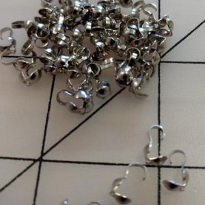 Shop Bead Tips & Knot Covers! 60 Pieces Antique Silver Tone Clamshell Bead Tips, finding (# A25) | Shop jewelry making and beading supplies, tools & findings for DIY jewelry making and crafts. #jewelrymaking #diyjewelry #jewelrycrafts #jewelrysupplies #beading #affiliate #ad