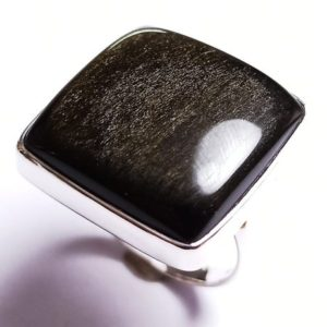 Shop Golden Obsidian Rings! 925 Sterling Silver Handmade Ring With Natural Golden Sheen Obsidian Gemstone,925 Stamped Jewelry,Minimalist Silver Ring | Natural genuine Golden Obsidian rings, simple unique handcrafted gemstone rings. #rings #jewelry #shopping #gift #handmade #fashion #style #affiliate #ad