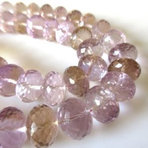Shop Ametrine Faceted Beads! AAA Ametrine Faceted Rondelle Beads, Huge 8mm To 13mm Ametrine Beads, Ametrine Gemstone beads, Loose Natural Ametrine Beads, GDS1121   Natural genuine faceted Ametrine beads for beading and jewelry making.  #jewelry #beads #beadedjewelry #diyjewelry #jewelrymaking #beadstore #beading #affiliate #ad