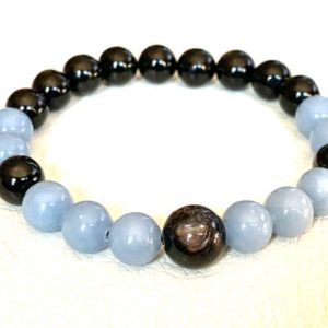 Shop Apache Tears Jewelry! AAA Grade Apache tears Mala Beads Bracelet, Grief Support Bracelet,  Loss, Bereavement Bracelet, Grief Affirmation, Emotional Support | Natural genuine Apache Tears jewelry. Buy crystal jewelry, handmade handcrafted artisan jewelry for women.  Unique handmade gift ideas. #jewelry #beadedjewelry #beadedjewelry #gift #shopping #handmadejewelry #fashion #style #product #jewelry #affiliate #ad