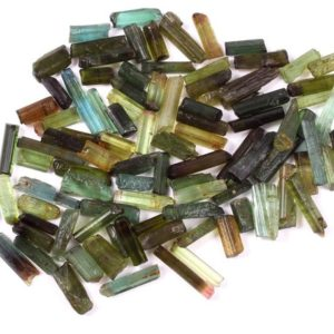 AAA Natural Tourmaline Gemstone,Green Tourmaline Raw Crystal,Size 7×3-11×3 MM 30 PC's Lot,Rough Tourmaline,Tourmaline Green color Raw | Natural genuine stones & crystals in various shapes & sizes. Buy raw cut, tumbled, or polished gemstones for making jewelry or crystal healing energy vibration raising reiki stones. #crystals #gemstones #crystalhealing #crystalsandgemstones #energyhealing #affiliate #ad