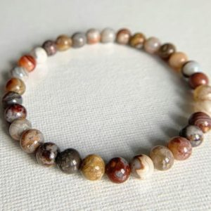 Shop Crazy Lace Agate Jewelry! Laguna Lace Agate Bracelet, Mexican Crazy Lace, Inner Stability, Stimulates Imagination, Helps Making Decisions, Release Fear and Phobias | Natural genuine Agate jewelry. Buy crystal jewelry, handmade handcrafted artisan jewelry for women.  Unique handmade gift ideas. #jewelry #beadedjewelry #beadedjewelry #gift #shopping #handmadejewelry #fashion #style #product #jewelry #affiliate #ad