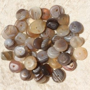 Shop Agate Chip & Nugget Beads! 10pc – stone beads – 8-12mm 4558550004505 pucks Chips Botswana Agate | Natural genuine chip Agate beads for beading and jewelry making.  #jewelry #beads #beadedjewelry #diyjewelry #jewelrymaking #beadstore #beading #affiliate #ad