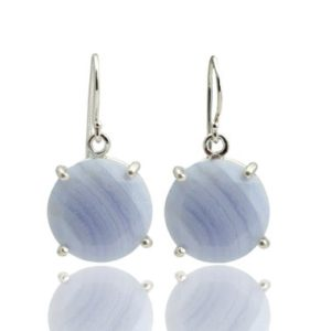 Shop Agate Earrings! Lace agate earrings,silver earrings,semiprecious earrings,gemstone earrings,dangle earrings,round prong earrings,wedding earrings | Natural genuine Agate earrings. Buy handcrafted artisan wedding jewelry.  Unique handmade bridal jewelry gift ideas. #jewelry #beadedearrings #gift #crystaljewelry #shopping #handmadejewelry #wedding #bridal #earrings #affiliate #ad