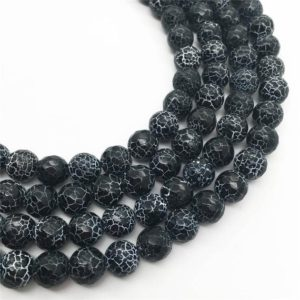 Shop Black Agate Beads! 8mm Faceted Black Agate Beads, Gemstone Beads, Wholesale Beads | Natural genuine beads Agate beads for beading and jewelry making.  #jewelry #beads #beadedjewelry #diyjewelry #jewelrymaking #beadstore #beading #affiliate #ad