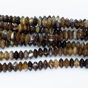 Shop Agate Rondelle Beads! agate disc beads – brown banded agate – stone disc beads – stripe stone beads – natural gemstone spacer beads – rondelle beads supplies | Natural genuine rondelle Agate beads for beading and jewelry making.  #jewelry #beads #beadedjewelry #diyjewelry #jewelrymaking #beadstore #beading #affiliate #ad