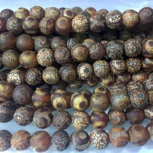 Shop Agate Round Beads! agate round  Dzi eye beads – round prayer beads  – beads for making malas –  ancient agate beads – 8mm Tibetan Dzi -15inch | Natural genuine round Agate beads for beading and jewelry making.  #jewelry #beads #beadedjewelry #diyjewelry #jewelrymaking #beadstore #beading #affiliate #ad