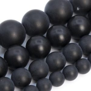 Shop Agate Round Beads! Matte Black Agate Beads Grade AA Genuine Natural Gemstone Round Loose Beads 4MM 6MM 8MM 10MM 15MM Bulk Lot Options | Natural genuine round Agate beads for beading and jewelry making.  #jewelry #beads #beadedjewelry #diyjewelry #jewelrymaking #beadstore #beading #affiliate #ad