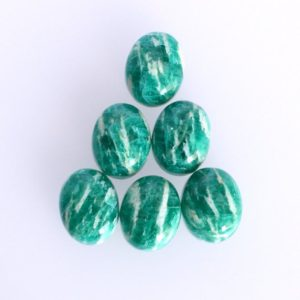 Shop Amazonite Cabochons! Natural Russian Amazonite Oval Cabochon, Available Size 3×5 MM to 16×22 MM Jewellery Making, Smooth Polished, Flat Back Side, Wholesale Lot | Natural genuine stones & crystals in various shapes & sizes. Buy raw cut, tumbled, or polished gemstones for making jewelry or crystal healing energy vibration raising reiki stones. #crystals #gemstones #crystalhealing #crystalsandgemstones #energyhealing #affiliate #ad