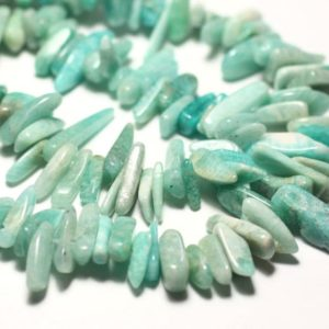 Shop Amazonite Chip & Nugget Beads! 20pc – Stone Beads – Amazonite Russia Rock Chips 8-20mm – 8741140014718 Sticks   Natural genuine chip Amazonite beads for beading and jewelry making.  #jewelry #beads #beadedjewelry #diyjewelry #jewelrymaking #beadstore #beading #affiliate #ad