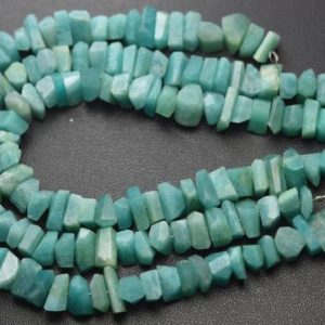 Shop Amazonite Chip & Nugget Beads! 7 Inch Strand,Natural Amazonite Faceted Fancy Nuggets  Shape Size 7-8mm   Natural genuine chip Amazonite beads for beading and jewelry making.  #jewelry #beads #beadedjewelry #diyjewelry #jewelrymaking #beadstore #beading #affiliate #ad