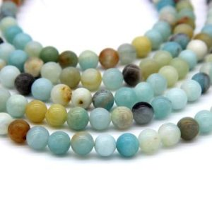 Shop Amazonite Bead Shapes! Amazonite Beads 4mm 6mm 8mm 10mm 12mm Natural Aqua Green Gemstones Muti color Amazonite Mala Beads | Natural genuine other-shape Amazonite beads for beading and jewelry making.  #jewelry #beads #beadedjewelry #diyjewelry #jewelrymaking #beadstore #beading #affiliate #ad