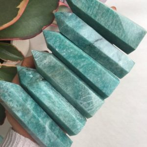 Amazonite Point, Amazonite | Natural genuine stones & crystals in various shapes & sizes. Buy raw cut, tumbled, or polished gemstones for making jewelry or crystal healing energy vibration raising reiki stones. #crystals #gemstones #crystalhealing #crystalsandgemstones #energyhealing #affiliate #ad