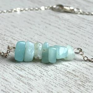 Shop Raw & Rough Amazonite Stones! RAW AMAZONITE ANKLET – Amazonite Jewelry – Amazonite Anklet Silver – Bridesmaid Anklet – Gemstone Anklet – Tiny Anklet – Silver Beach Anklet | Natural genuine stones & crystals in various shapes & sizes. Buy raw cut, tumbled, or polished gemstones for making jewelry or crystal healing energy vibration raising reiki stones. #crystals #gemstones #crystalhealing #crystalsandgemstones #energyhealing #affiliate #ad