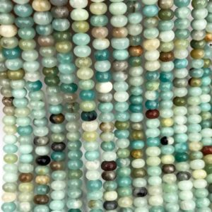 Shop Amazonite Rondelle Beads! 6x4mm Amazonite Rondelle Beads, Gemstone Beads, Wholesale Beads | Natural genuine rondelle Amazonite beads for beading and jewelry making.  #jewelry #beads #beadedjewelry #diyjewelry #jewelrymaking #beadstore #beading #affiliate #ad