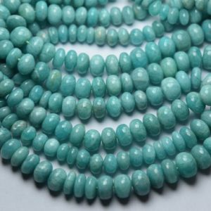 Shop Amazonite Rondelle Beads! 8 Inch strand,Natural Amazonite Smooth Shape Rondelles, Size. 7-8mm | Natural genuine rondelle Amazonite beads for beading and jewelry making.  #jewelry #beads #beadedjewelry #diyjewelry #jewelrymaking #beadstore #beading #affiliate #ad