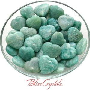 Shop Amazonite Shapes! 1 Amazonite Mini Heart Pocket Stone Healing Crystal and Stone for Dream Work #AH68 | Natural genuine stones & crystals in various shapes & sizes. Buy raw cut, tumbled, or polished gemstones for making jewelry or crystal healing energy vibration raising reiki stones. #crystals #gemstones #crystalhealing #crystalsandgemstones #energyhealing #affiliate #ad