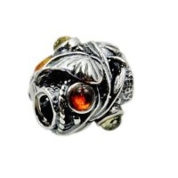 Victorian Garden' Amber Bead, Sterling Silver Bead For Charm Bracelets Charm Fits Pandora Bracelet Ae320 | Natural genuine Gemstone jewelry. Buy crystal jewelry, handmade handcrafted artisan jewelry for women.  Unique handmade gift ideas. #jewelry #beadedjewelry #beadedjewelry #gift #shopping #handmadejewelry #fashion #style #product #jewelry #affiliate #ad