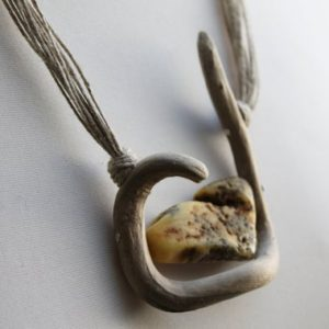 Shop Amber Necklaces! Drift Wood Necklace with Raw White Amber Wild Driftwood Jewelry | Natural genuine Amber necklaces. Buy crystal jewelry, handmade handcrafted artisan jewelry for women.  Unique handmade gift ideas. #jewelry #beadednecklaces #beadedjewelry #gift #shopping #handmadejewelry #fashion #style #product #necklaces #affiliate #ad