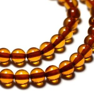 Shop Amber Bead Shapes! 20cm approx – natural amber beads 25pc yarn balls 8mm Orange Cognac | Natural genuine other-shape Amber beads for beading and jewelry making.  #jewelry #beads #beadedjewelry #diyjewelry #jewelrymaking #beadstore #beading #affiliate #ad