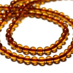 Shop Amber Bead Shapes! Orange thread 40cm approx – natural amber beads 80pc balls 5 mm | Natural genuine other-shape Amber beads for beading and jewelry making.  #jewelry #beads #beadedjewelry #diyjewelry #jewelrymaking #beadstore #beading #affiliate #ad
