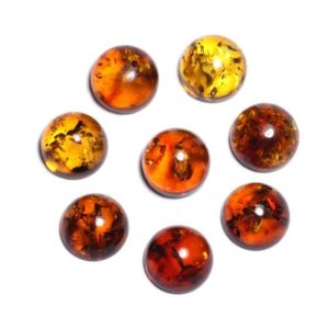 1pc – Cabochon amber natural round 10 mm – 8741140003255 | Natural genuine beads Gemstone beads for beading and jewelry making.  #jewelry #beads #beadedjewelry #diyjewelry #jewelrymaking #beadstore #beading #affiliate #ad