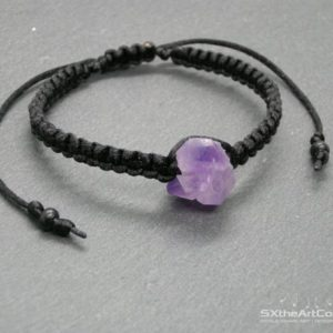 Shop Amethyst Bracelets! Amethyst cluster bracelet, point layering bangle, stacking wristband, February birthstone, protective amulet, sagittarius stone, men jewelry | Natural genuine Amethyst bracelets. Buy crystal jewelry, handmade handcrafted artisan jewelry for women.  Unique handmade gift ideas. #jewelry #beadedbracelets #beadedjewelry #gift #shopping #handmadejewelry #fashion #style #product #bracelets #affiliate #ad