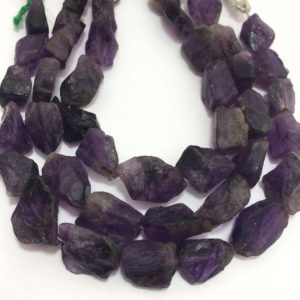 """Shop Amethyst Chip & Nugget Beads! 15 Pieces Super Rare AFRICAN AMETHYST ,Amethyst Rough Nuggets ,Amethyst Drilled Full Strand 8""""Inches,Rare Stone Beads 