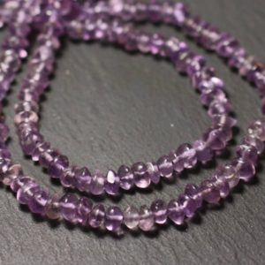 Shop Amethyst Rondelle Beads! Wire 32cm 112pc env – stone beads – Amethyst Rondelles 4-6mm – 8741140013049 abacus | Natural genuine rondelle Amethyst beads for beading and jewelry making.  #jewelry #beads #beadedjewelry #diyjewelry #jewelrymaking #beadstore #beading #affiliate #ad