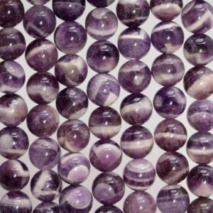 Shop Amethyst Beads! Dogtooth Chevron Amethyst Gemstone Grade Aaa Round 6mm 8mm 10mm Loose Beads  BULK LOT 1,2,6,12 and 50 (A253) | Natural genuine beads Amethyst beads for beading and jewelry making.  #jewelry #beads #beadedjewelry #diyjewelry #jewelrymaking #beadstore #beading #affiliate #ad