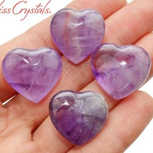 Shop Amethyst Shapes! 1 AMETHYST Polished Mini Heart Pocket Size Gemstone Healing Crystals and Stones #AH61 | Natural genuine stones & crystals in various shapes & sizes. Buy raw cut, tumbled, or polished gemstones for making jewelry or crystal healing energy vibration raising reiki stones. #crystals #gemstones #crystalhealing #crystalsandgemstones #energyhealing #affiliate #ad