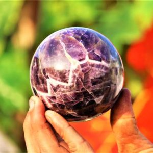Shop Amethyst Shapes! Large 85MM Natural Blue Amethyst Stone Crystal Gemstone Metaphysical Healing Power Sphere Ball | Natural genuine stones & crystals in various shapes & sizes. Buy raw cut, tumbled, or polished gemstones for making jewelry or crystal healing energy vibration raising reiki stones. #crystals #gemstones #crystalhealing #crystalsandgemstones #energyhealing #affiliate #ad