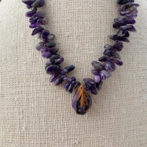 Shop Sugilite Necklaces! Amethyst & Sugilite Necklace | Natural genuine Sugilite necklaces. Buy crystal jewelry, handmade handcrafted artisan jewelry for women.  Unique handmade gift ideas. #jewelry #beadednecklaces #beadedjewelry #gift #shopping #handmadejewelry #fashion #style #product #necklaces #affiliate #ad