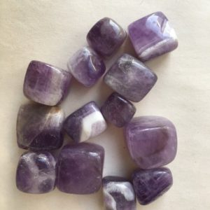 Shop Tumbled Amethyst Crystals & Pocket Stones! One Tumbled Amethyst, Chevron Amethyst, Amethyst Tumbled, Dream Amethyst Tumbled Stones, Amethyst | Natural genuine stones & crystals in various shapes & sizes. Buy raw cut, tumbled, or polished gemstones for making jewelry or crystal healing energy vibration raising reiki stones. #crystals #gemstones #crystalhealing #crystalsandgemstones #energyhealing #affiliate #ad