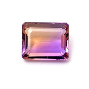 Natural AAA+ Ametrine Gemstone 15x18mm Octagon Cut Stone | Bi-Color Ametrine Semi Precious Gemstone Faceted Loose Octo Cut – 17 Carats | Natural genuine faceted Ametrine beads for beading and jewelry making.  #jewelry #beads #beadedjewelry #diyjewelry #jewelrymaking #beadstore #beading #affiliate #ad