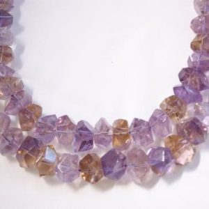 Natural Ametrine Faceted Irregular Shaped Gemstone Bead-14mm x 7mm~ -15.5 inch strand- | Natural genuine faceted Ametrine beads for beading and jewelry making.  #jewelry #beads #beadedjewelry #diyjewelry #jewelrymaking #beadstore #beading #affiliate #ad