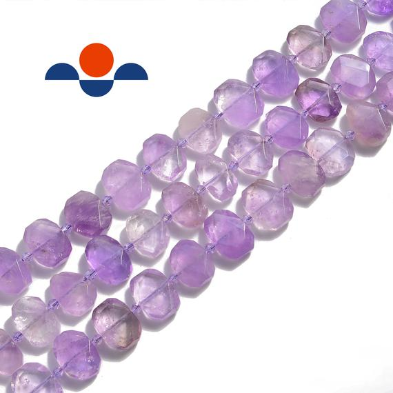"""Ametrine Rectangle Slice Faceted Octagon Beads Approx 15x20mm 15.5"""" Strand"""