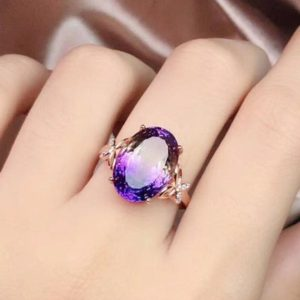 Ametrine Ring, 925 Sterling Silver Ring, Ametrine Engagement Ring, Wedding Ring, Gift For Women, ametrine jewelry, Gift For Her | Natural genuine Gemstone rings, simple unique alternative gemstone engagement rings. #rings #jewelry #bridal #wedding #jewelryaccessories #engagementrings #weddingideas #affiliate #ad