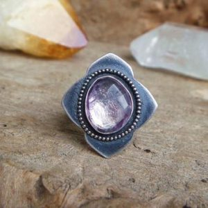 Shop Ametrine Jewelry! Ametrine sterling silver ring // Size 8.25 // Ametrine jewelry // Sterling silver jewelry // Metaphysical // Ametrine ring | Natural genuine Ametrine jewelry. Buy crystal jewelry, handmade handcrafted artisan jewelry for women.  Unique handmade gift ideas. #jewelry #beadedjewelry #beadedjewelry #gift #shopping #handmadejewelry #fashion #style #product #jewelry #affiliate #ad