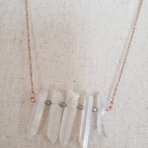 Shop Angel Aura Quartz Necklaces! Angel Aura Quartz Necklace, Bridesmaid Gift, Rose Gold Necklace, Rainbow Necklace, Maid of Honor Gift | Natural genuine Angel Aura Quartz necklaces. Buy crystal jewelry, handmade handcrafted artisan jewelry for women.  Unique handmade gift ideas. #jewelry #beadednecklaces #beadedjewelry #gift #shopping #handmadejewelry #fashion #style #product #necklaces #affiliate #ad