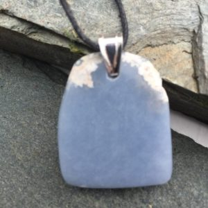 Shop Angelite Pendants! Angelite artisan pendant, beautiful pale blue opaque stone with natural white markings, hand crafted in Scotland, unique | Natural genuine Angelite pendants. Buy crystal jewelry, handmade handcrafted artisan jewelry for women.  Unique handmade gift ideas. #jewelry #beadedpendants #beadedjewelry #gift #shopping #handmadejewelry #fashion #style #product #pendants #affiliate #ad