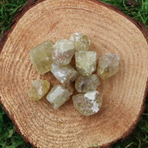 Shop Raw & Rough Apatite Stones! Golden Apatite Raw Medium | Natural genuine stones & crystals in various shapes & sizes. Buy raw cut, tumbled, or polished gemstones for making jewelry or crystal healing energy vibration raising reiki stones. #crystals #gemstones #crystalhealing #crystalsandgemstones #energyhealing #affiliate #ad